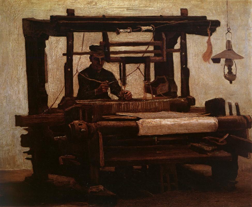 Винсент Ван Гог. Ткач у станка (вид спереди)
