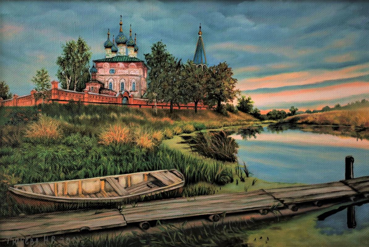 Natalia Viktorovna Tyuneva. Evening in the village of Dunilovo