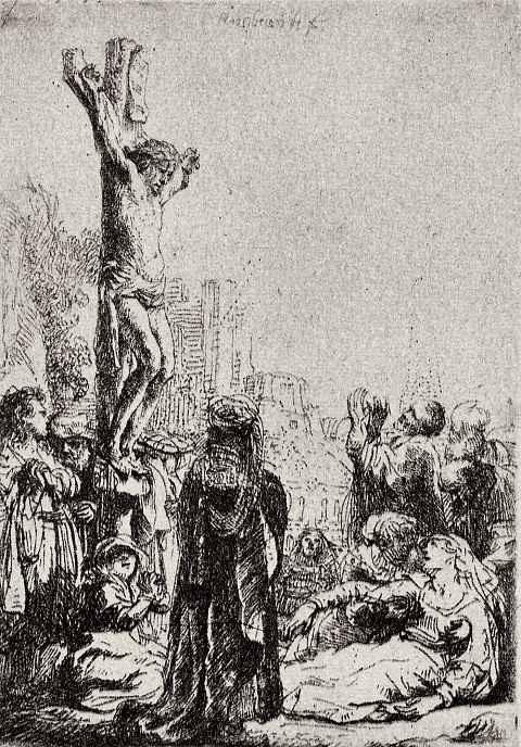 Рембрандт Ван Рейн. Христос на кресте