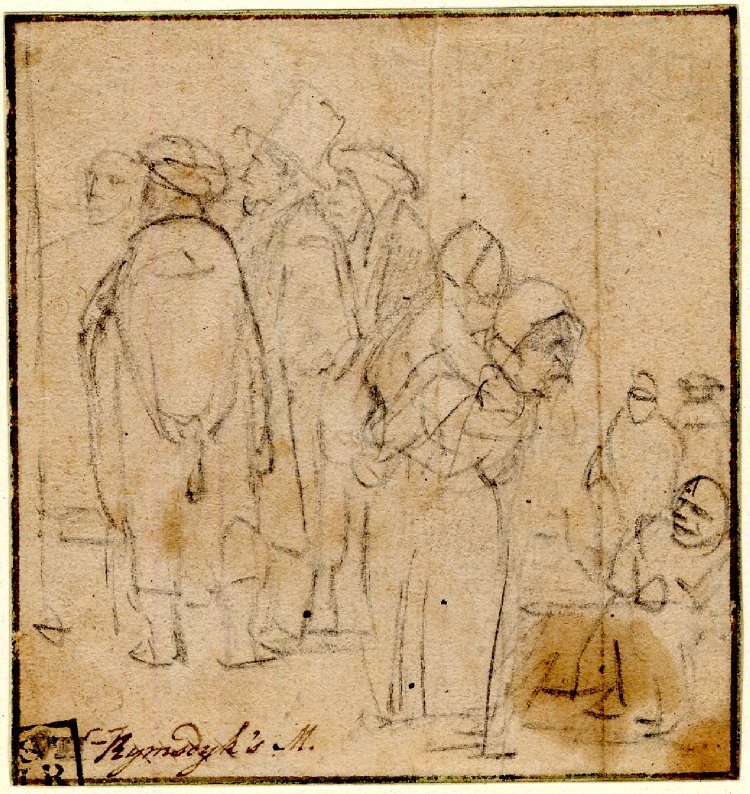 Rembrandt Harmenszoon van Rijn. A group of people standing