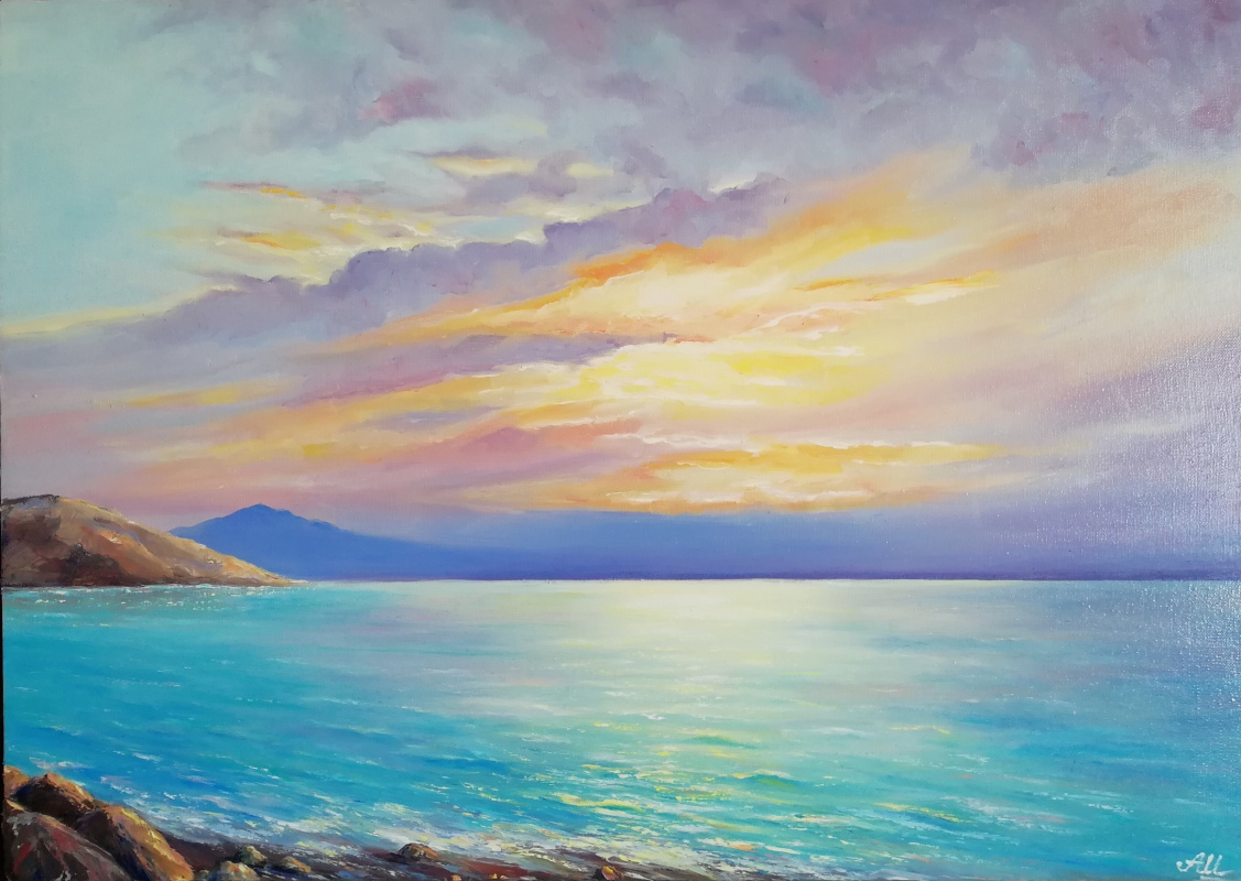 Alena Shaevskaya. Sunset at the sea