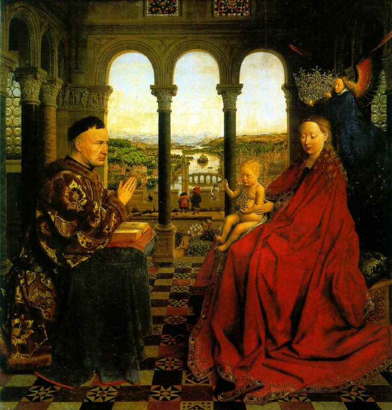 Jan van Eyck. Madonna of Chancellor Rolena