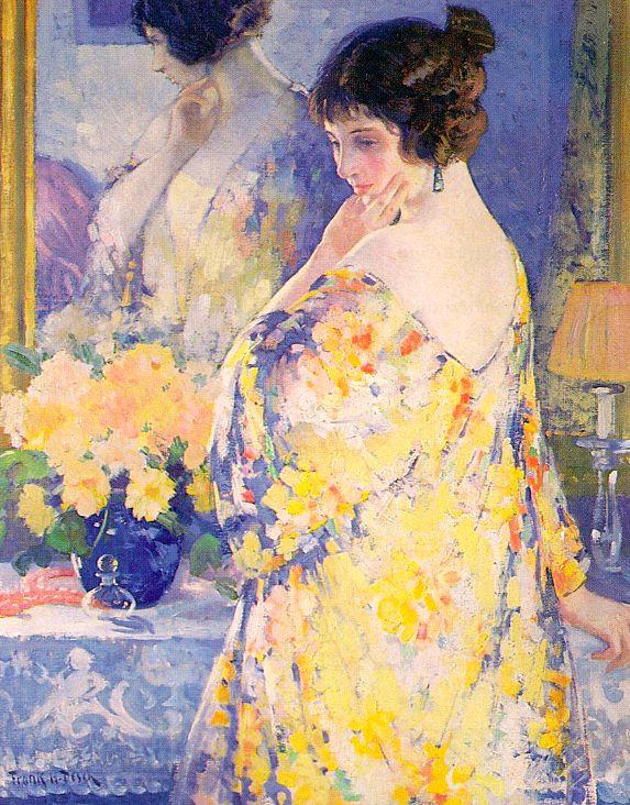 Фпанк Х. Деш. Женщина с желтыми цветами