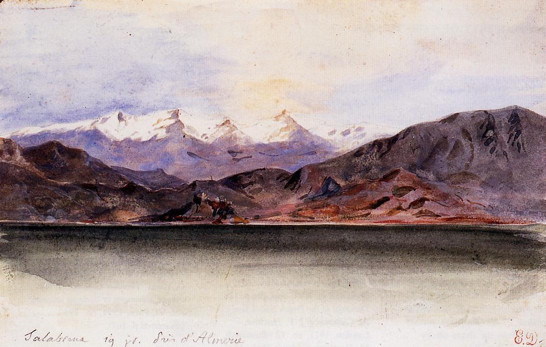 Eugene Delacroix. Coast of Spain near the town of Salobreña