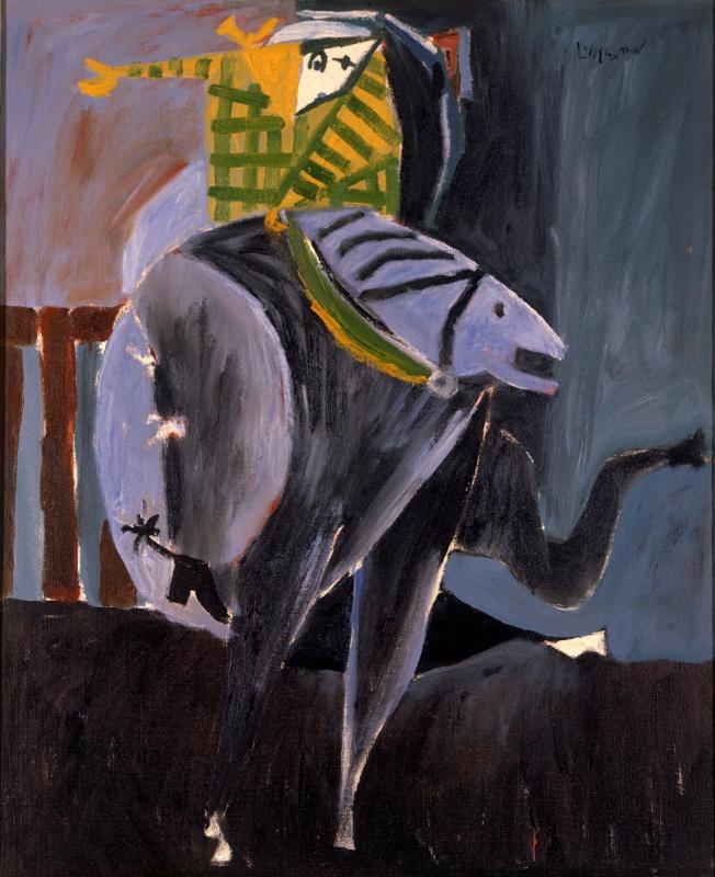 Ковбой на полудикой лошади