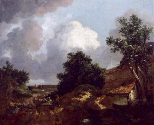 Thomas Gainsborough. Landscape with farm house and wagon