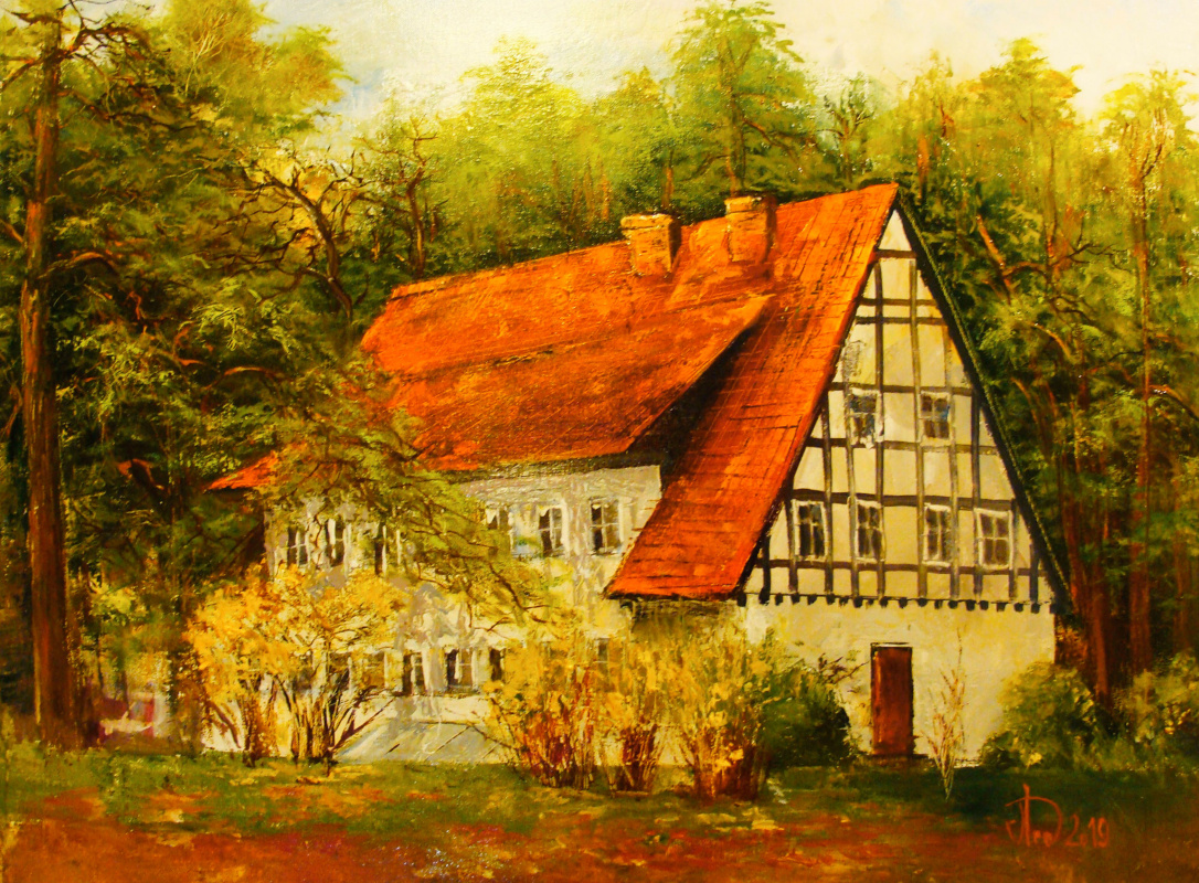 Alexander Alekseevich Lednev. Picturesque house