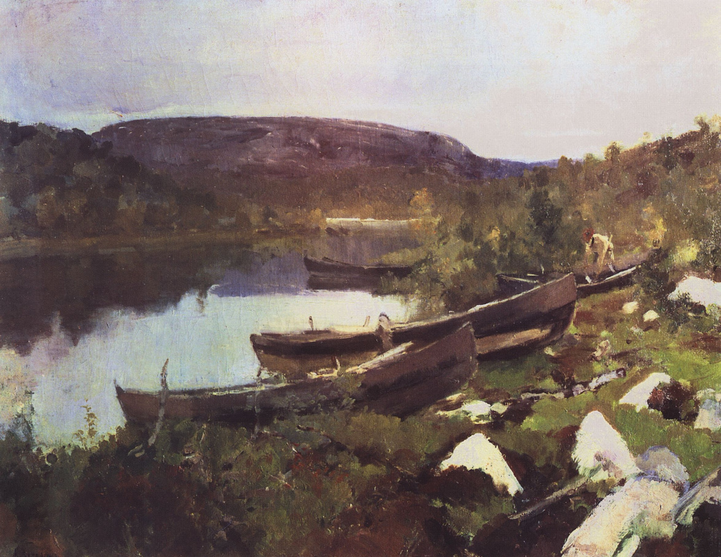 Константин Алексеевич Коровин. Ручей Святого Трифона в Печенге