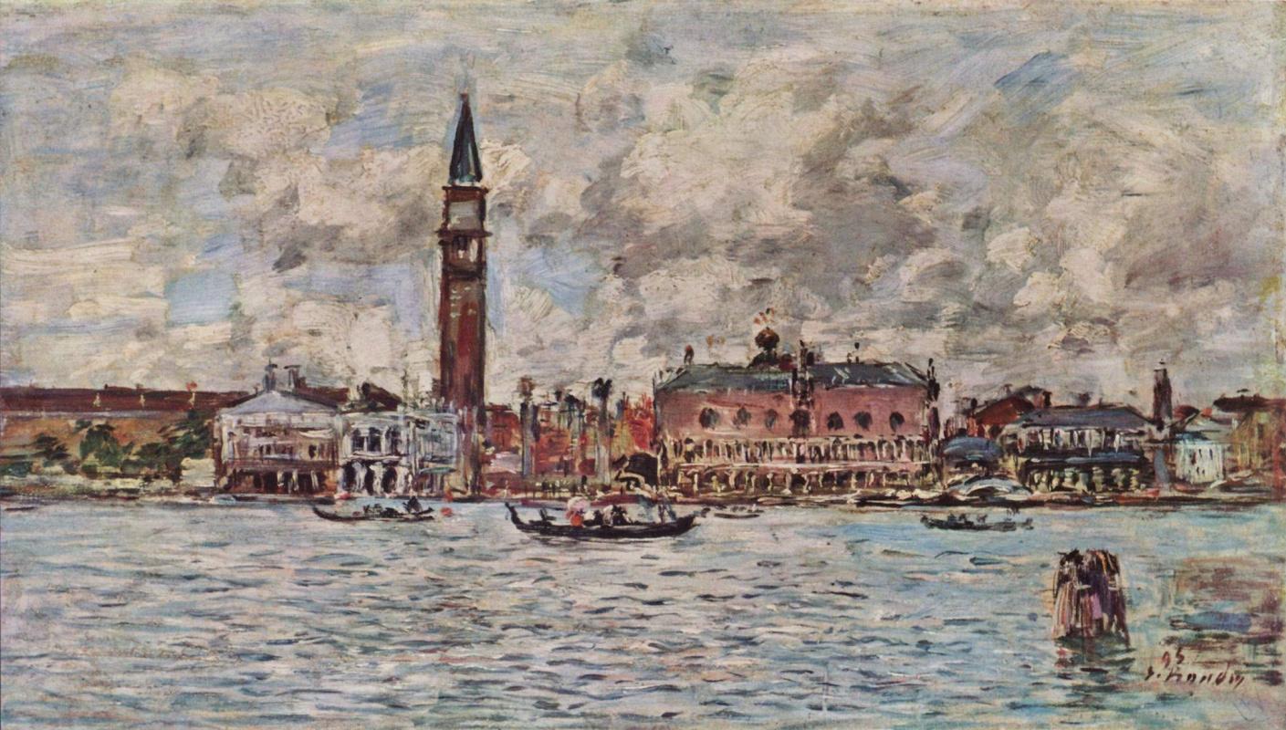 Эжен Буден. Площадь Сан Марко в Венеции
