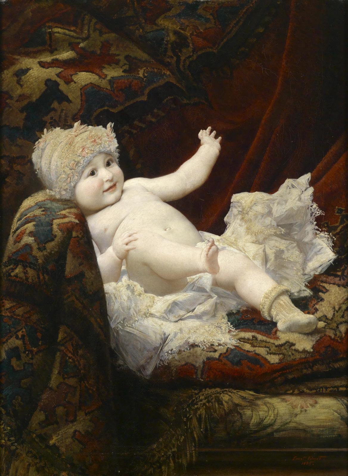 Эрнст Климт. Ребенок на диване