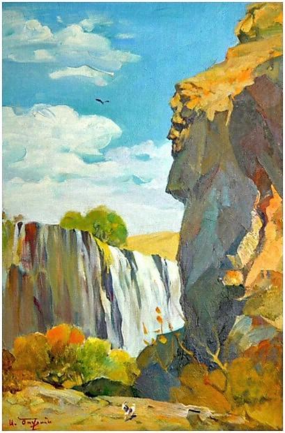 Albert Tsovyan. Zangezoor - 1970 oil on canvas - 62.0 x 42.0.