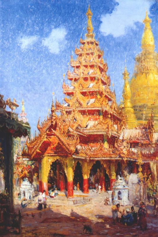 Колин Кемпбел Купер. Пагода Шведагон, Бирма