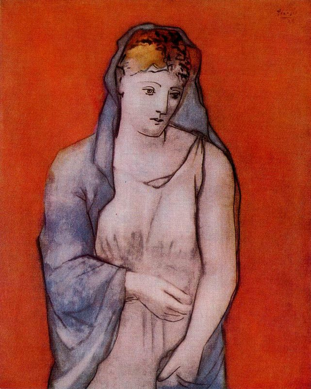Пабло Пикассо. Женщина в голубой накидке