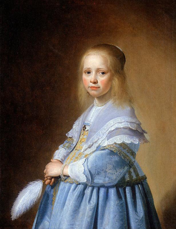 Йоханнес Верспронкк. Девочка в голубом платье