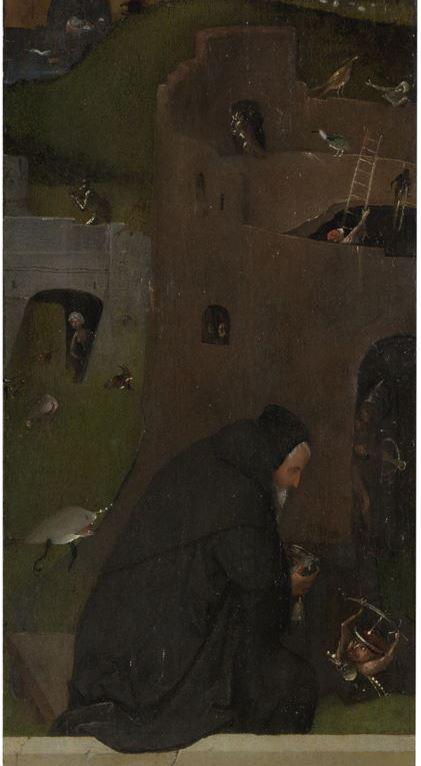 Иероним Босх. Распятая мученица. Фрагмент левой створки триптиха