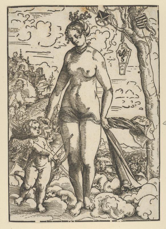 Лукас Кранах Старший. Венера и Купидон