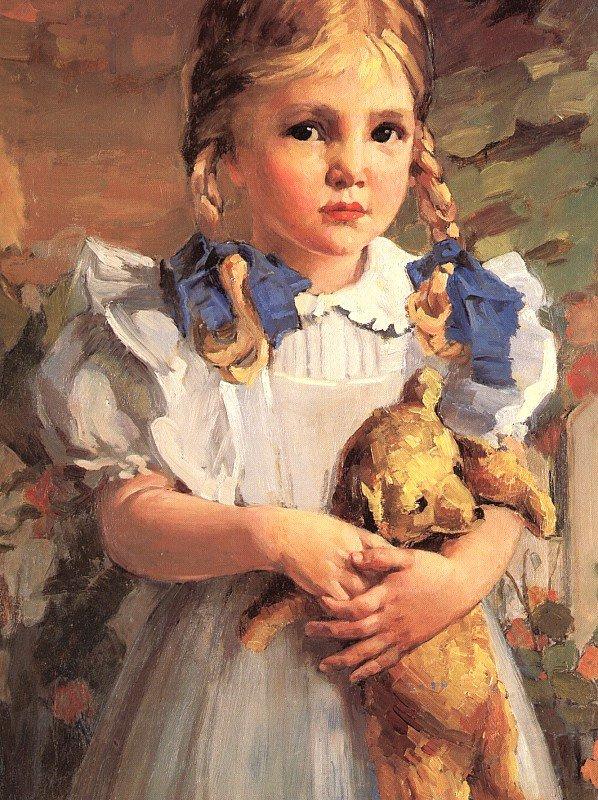 Бвессел. Девочка с мягкой игрушкой