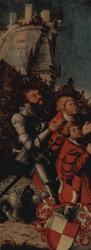 Лукас Кранах Старший. Рыцарь с двумя сыновьями