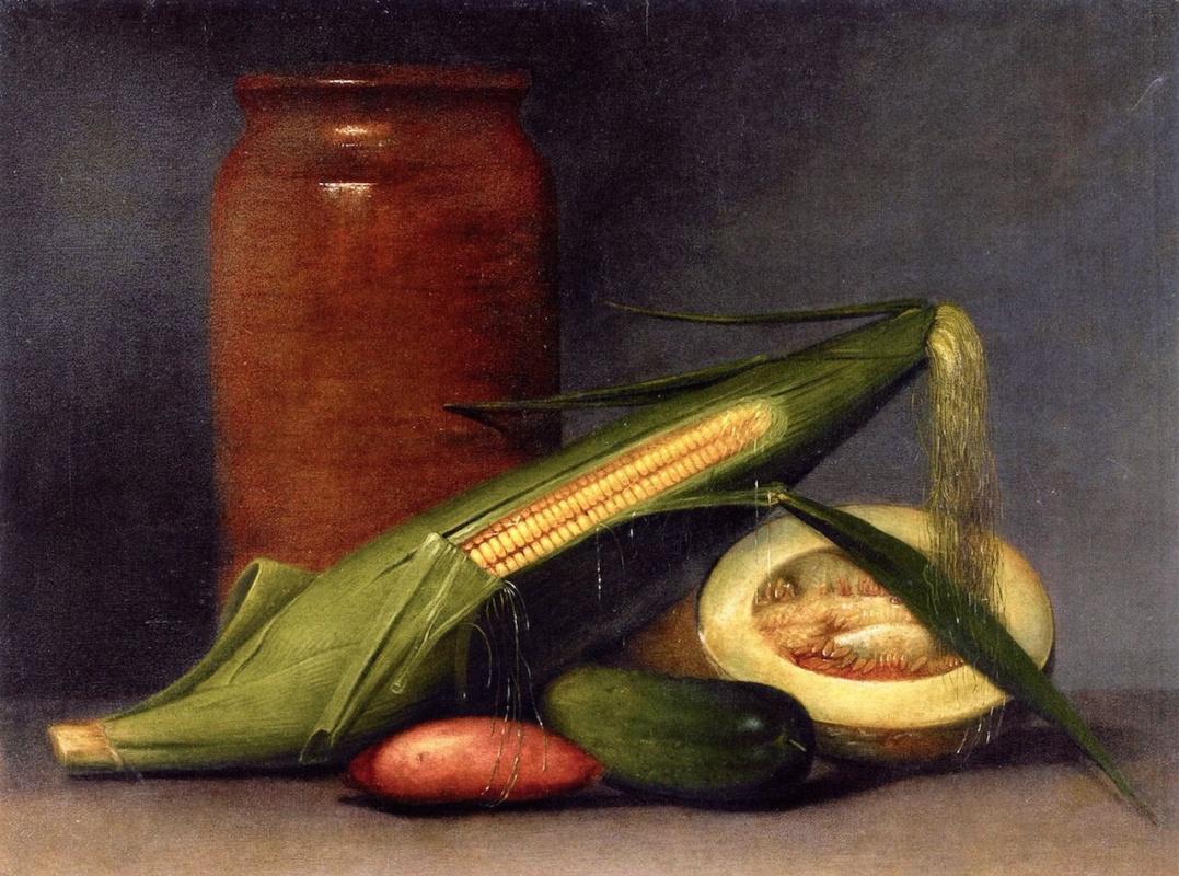 Raphaelle Peale. Corn and melon