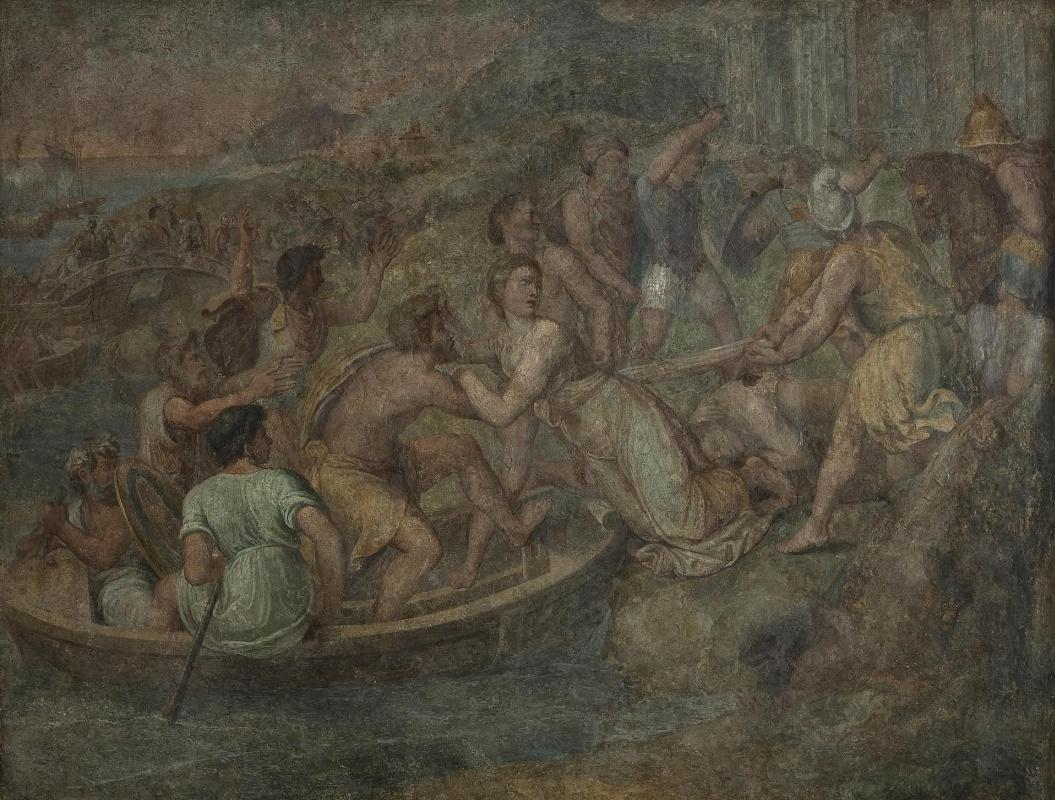 Raphael Sanzio. The rape of Helen (school of Raphael)