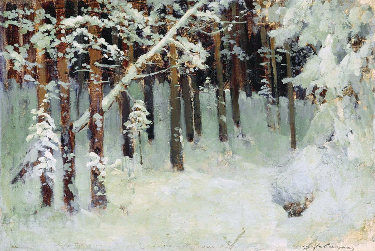 Исаак Ильич Левитан. Лес зимой