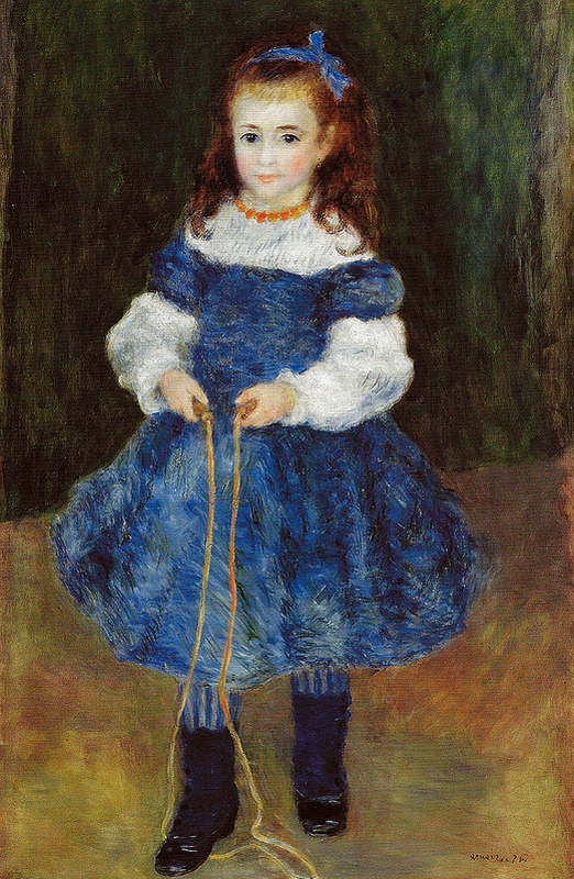 Pierre-Auguste Renoir. Girl with skipping rope