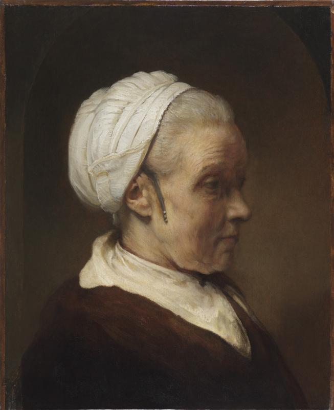 Рембрандт Харменс ван Рейн. Эскиз женщины в белом чепце