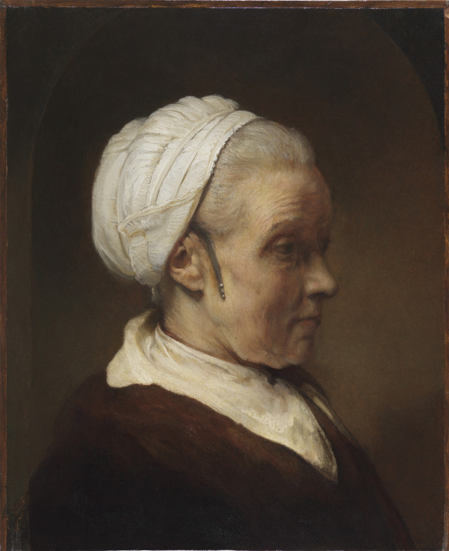 Rembrandt Harmenszoon van Rijn. Study of a Woman in a White Cap