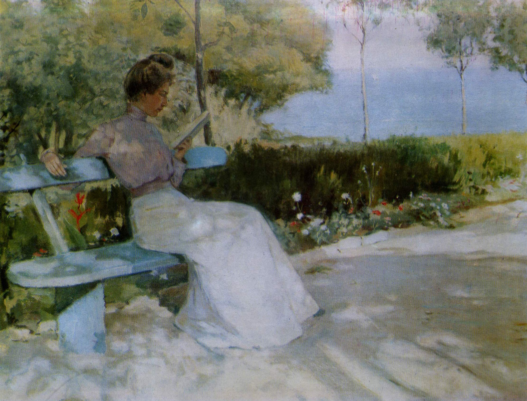 Евгений Иосифович Буковецкий. Woman on the bench