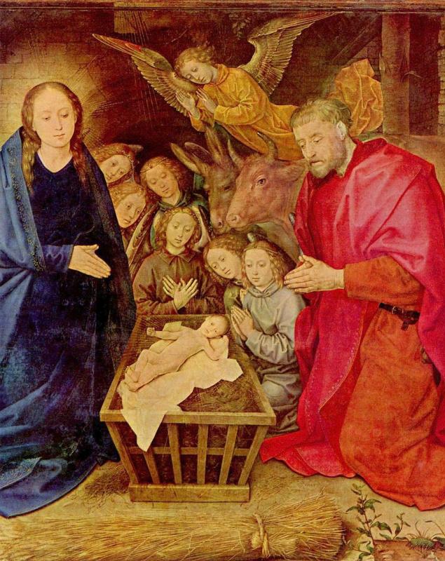 Хуго ван дер Гус. Поклонение пастухов, деталь