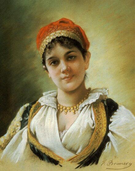 Emile Vernon. Forest girl