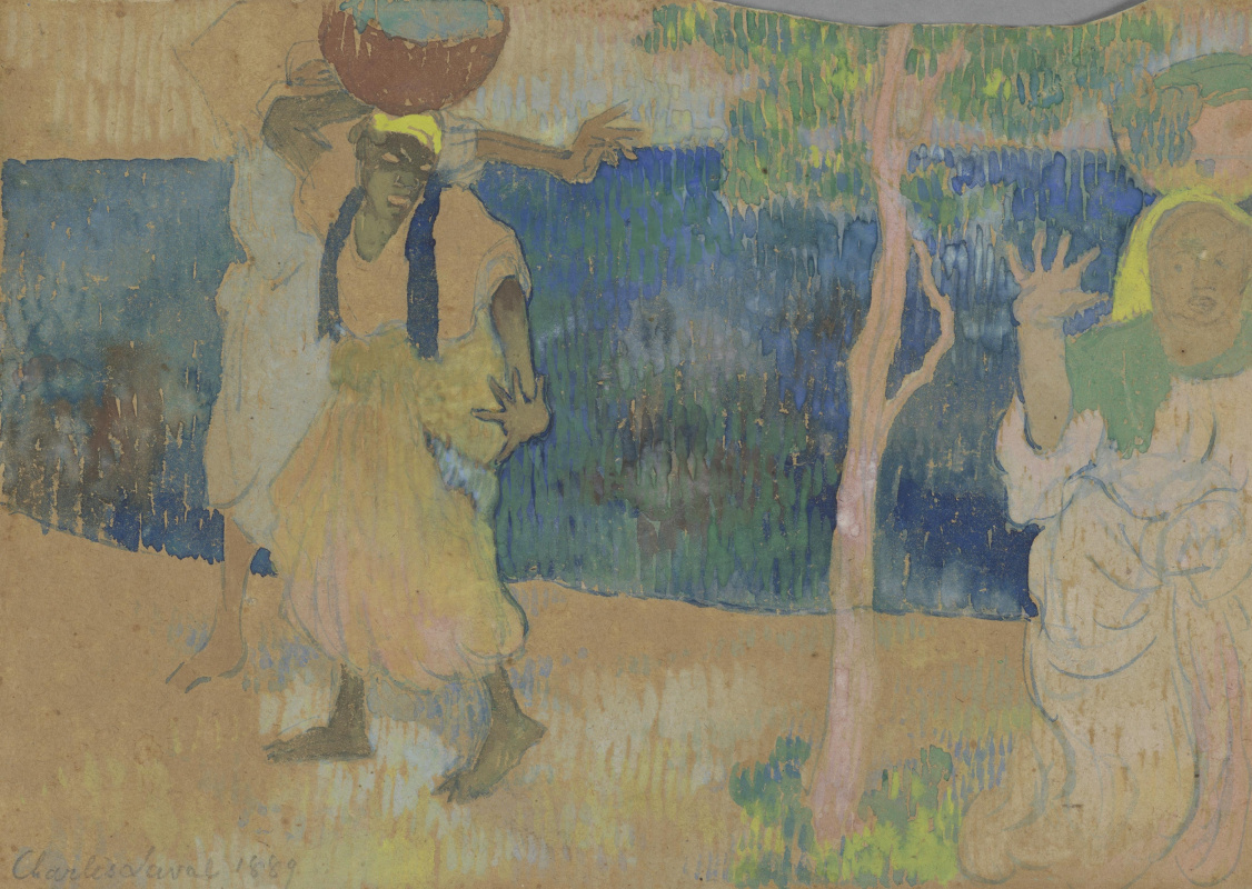 Charles Laval. Women on the Seashore