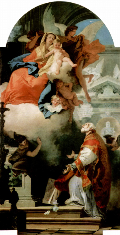 Джованни Баттиста Тьеполо. Явление Богородицы св. Филиппу Нери