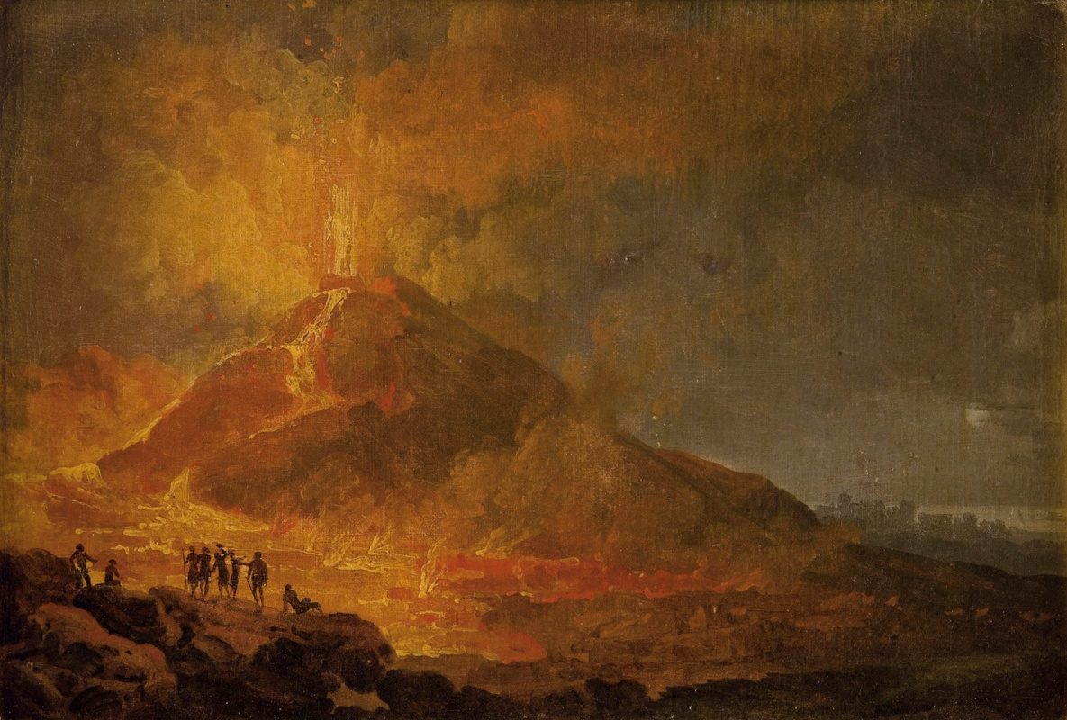 Pierre-Jacques Woller. The eruption of Vesuvius in 1779.