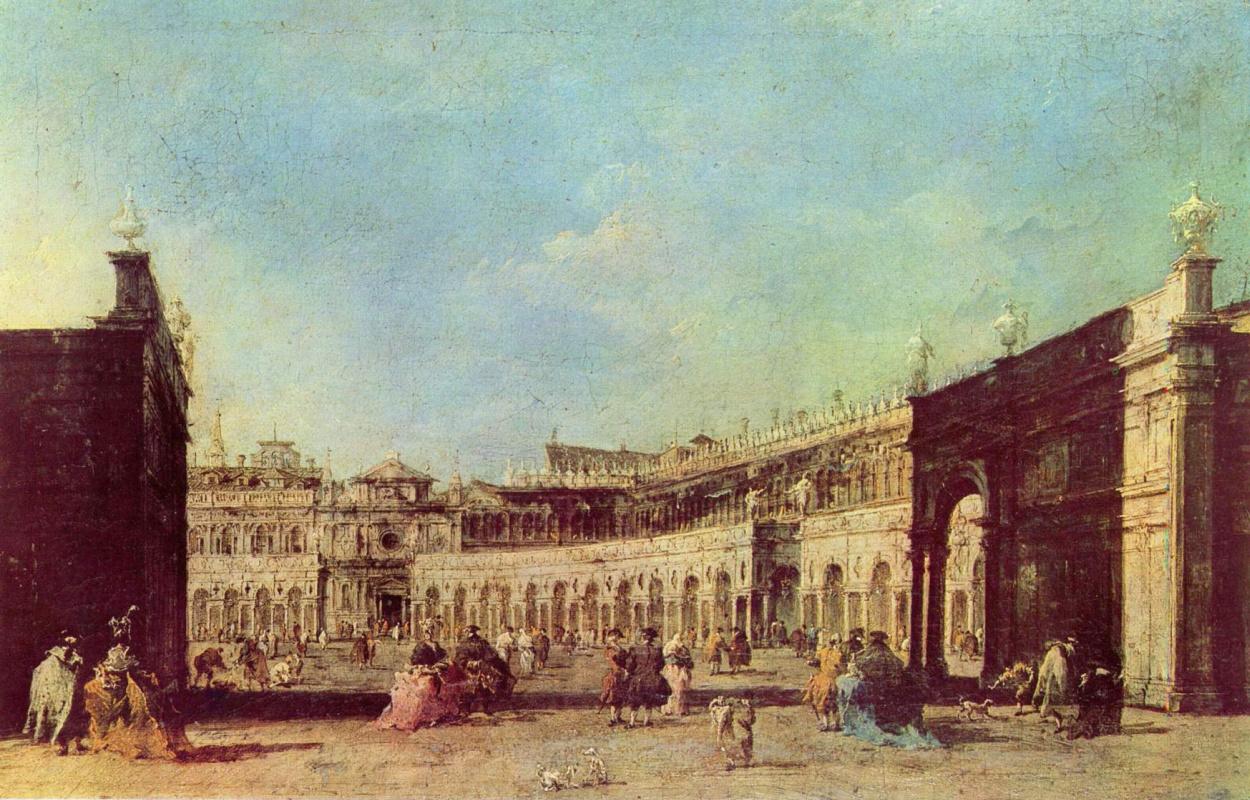 Франческо Гварди. Площадь Сан Марко