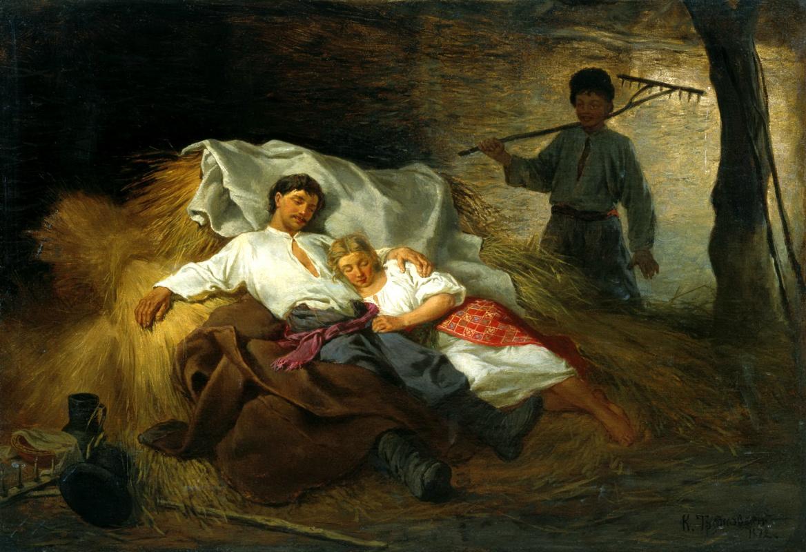 Константин Александрович Трутовский. На сеновале