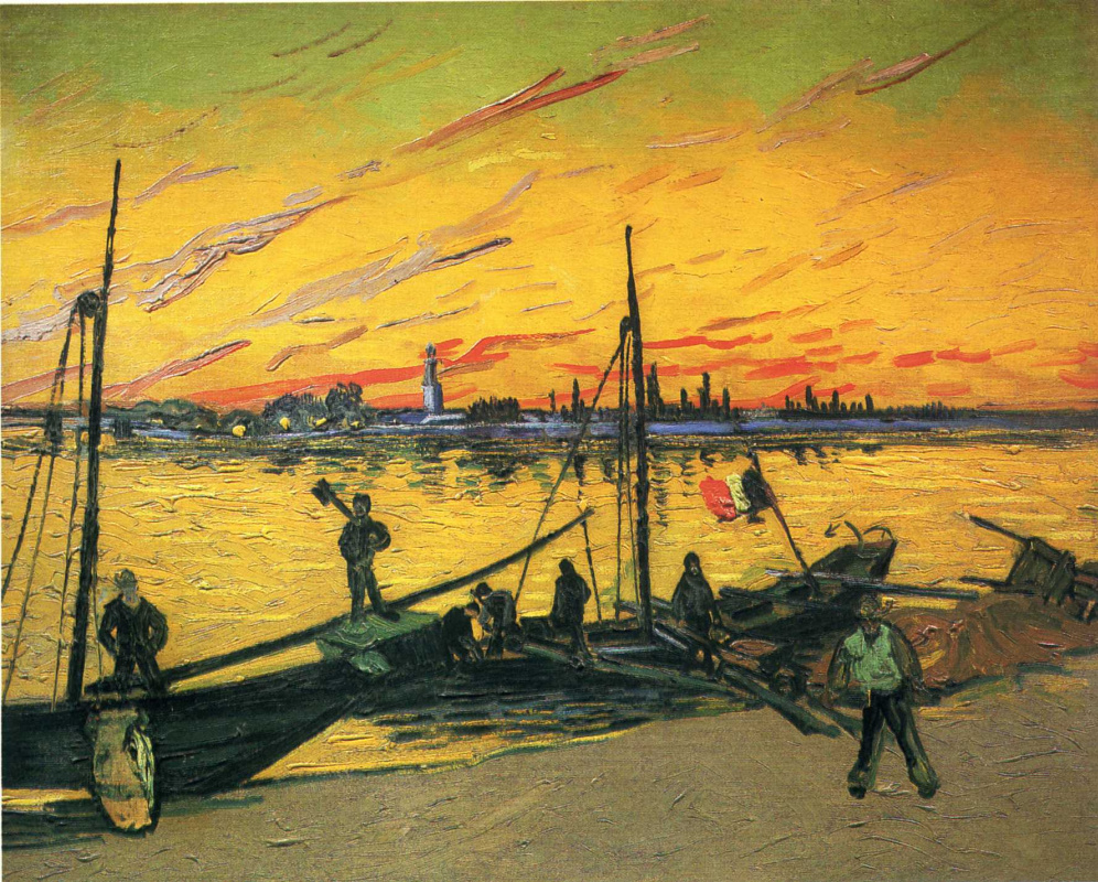 Винсент Ван Гог. Угольные баржи