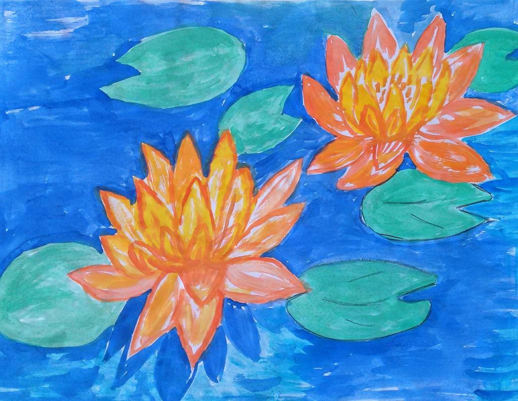 Irina Alexandrovna Sokolova. Lotuses in the pond