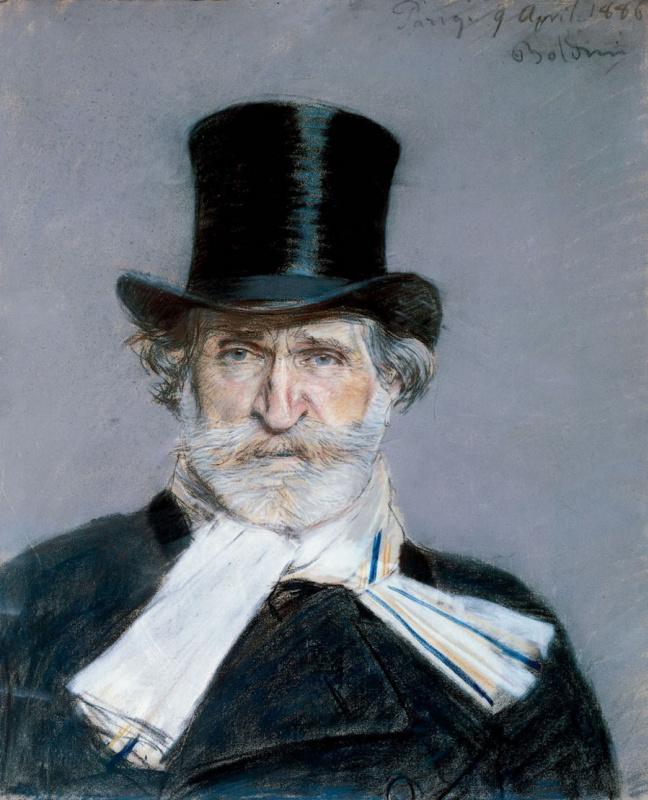Джованни Больдини. Портрет Джузеппе Верди