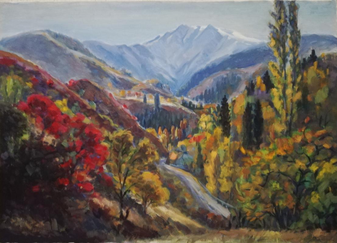 """Hamit Abdualievich Faysullin. """"Autumn in the mountains"""""""