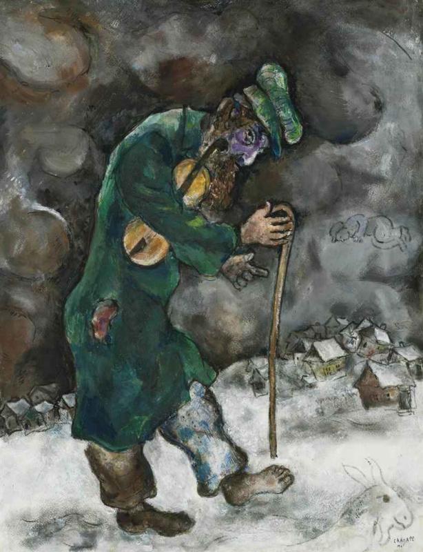 Марк Захарович Шагал. Старая еврейская скрипка