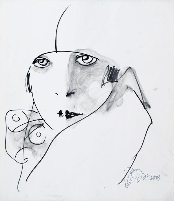 Рустам Усманович Хамдамов. Женский портрет