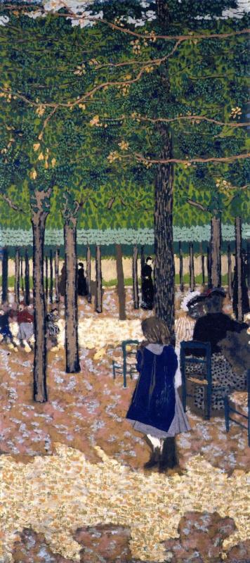 Жан Эдуар Вюйар. Прогулка в парке. Среди деревьев