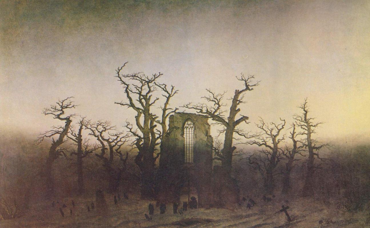 Caspar David Friedrich. Oak Grove Abbey