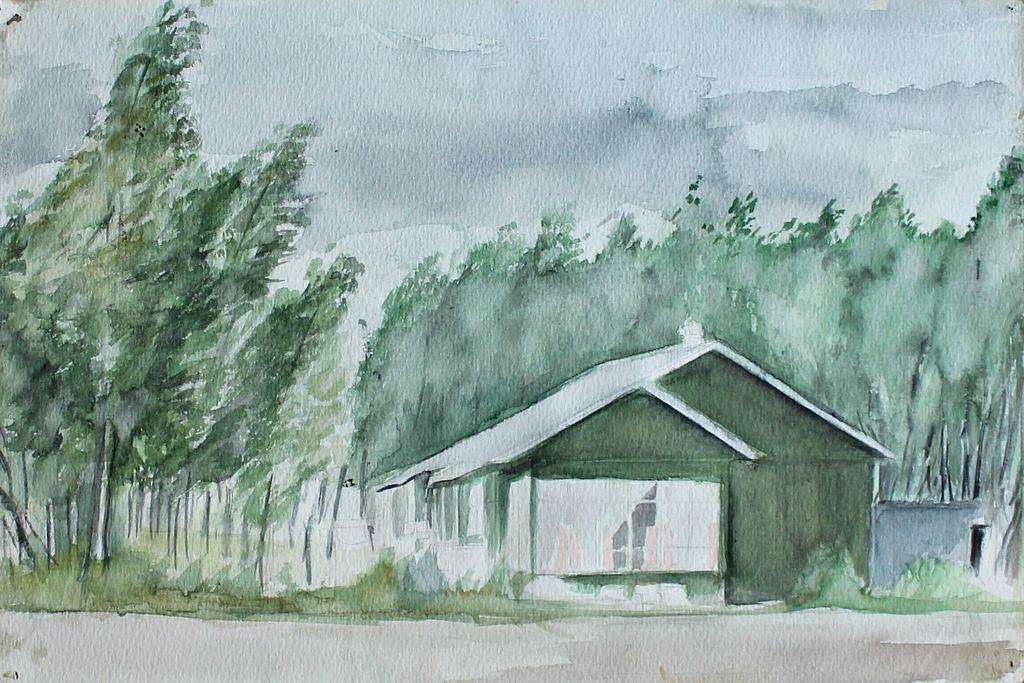 Eduard Stepanovich Kochergin. Landscape with a house