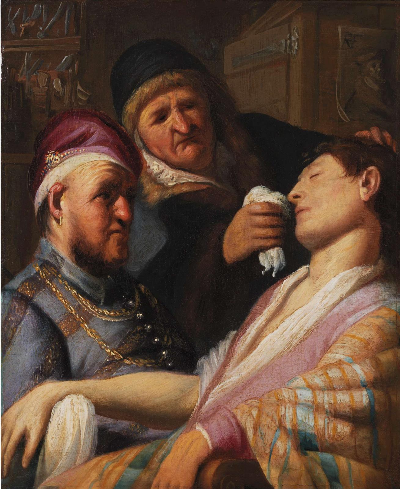 Рембрандт Харменс ван Рейн. Пациент без сознания (Обоняние)