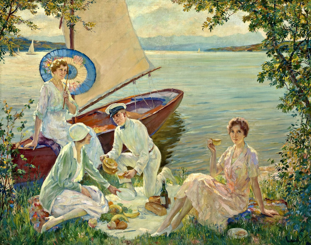 Edward Cucouel. Picnic on the lake Stanberger See.