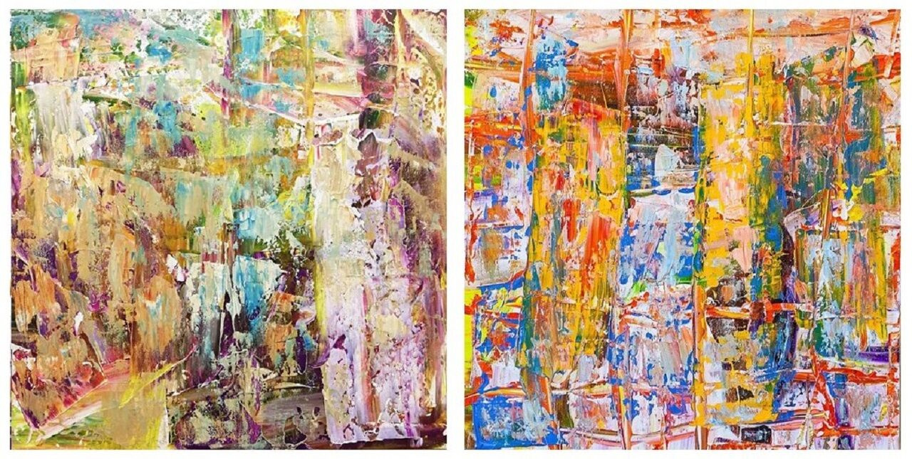 "Brian dupre. ""Magic dreams. Diptych N3"""