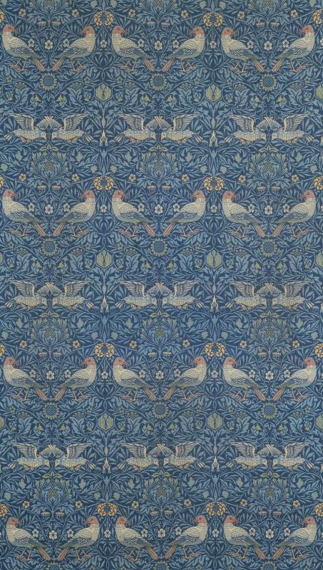 William Morris. Birds. Wall decoration design