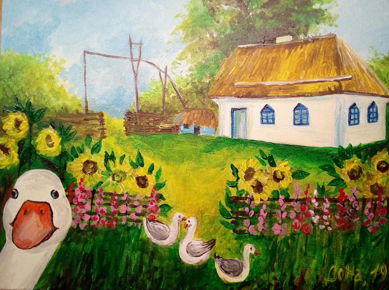 Natalia Anatolyevna Leisure. Country yard.